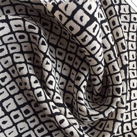 Wholesale New Fashion Geometric Pattern Digtal Printed Fabric 100% Rayon Fabric Factories