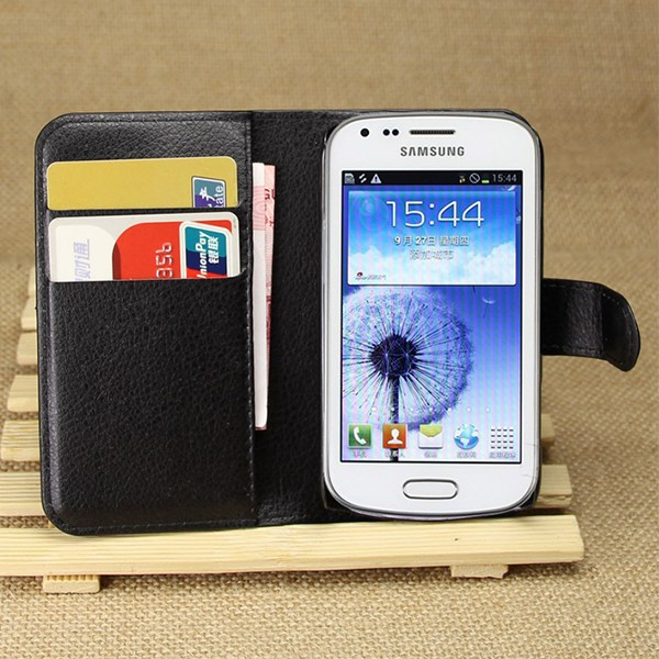 Flip PU Leather Wallet Cover Case For Samsung Galaxy Trend Duos S7562