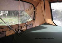 China made luxury canvas camping sunshine leisure tent for sale