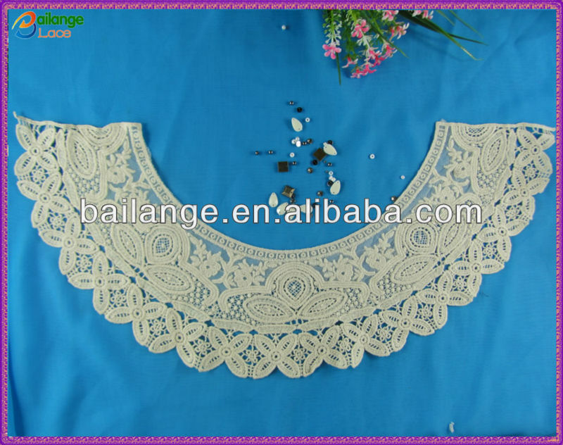 2015 embroidery collar pattern neck design of blouse decorative
