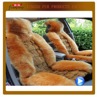 Fox fur&Sheepskin Car Seat Head Cover