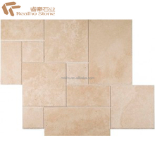 Honed Surface French Pattern White Travertine For Outdoor Paving Tile