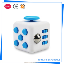 Mixed colors magical cub smooth button desk toy fidget cube as stress reliever and