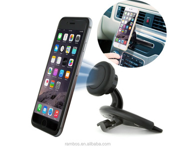 Mobile Magnet Rotation Strong Magnetic CD Slot Player Phone Holder for Smart Phones GPS MP4