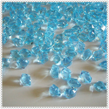 Light Blue Bright Acrylic Ice Gems For Wedding Table Glass Filler