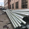 galvanized steel electric pole monopole for power distribution electrical line