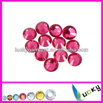 Hot sale highest quality HOT FIX DMC rhinestone Rose Color perfect outlook