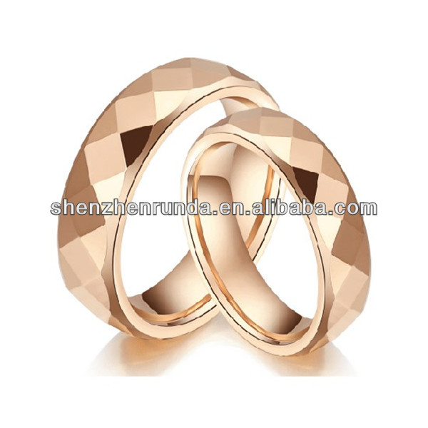 Stainless Steel Tungsten Gold Ring 18 K Rose Gold DIY Lettering