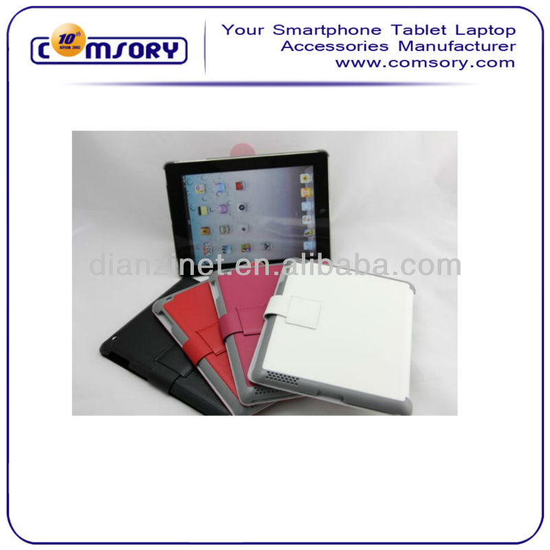 Lichee Pattern PU stand case For APPLE iPad 2 iPad 3 accept Paypal