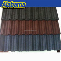 Discount Color Steel Kerala Purple Metro Monier Villa European Synthetic Stone Coated Metal Roof Tile