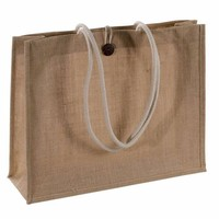 fancy jute bag/ jute tote bag with zipper/ plain jute bag