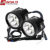 Goldrunway Designs exp4 moto black High Low beam universal led motorcycle headlight set