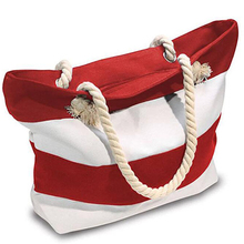 Wholesale custom fashion ladies beach cotton canvas tote bag with rope handle