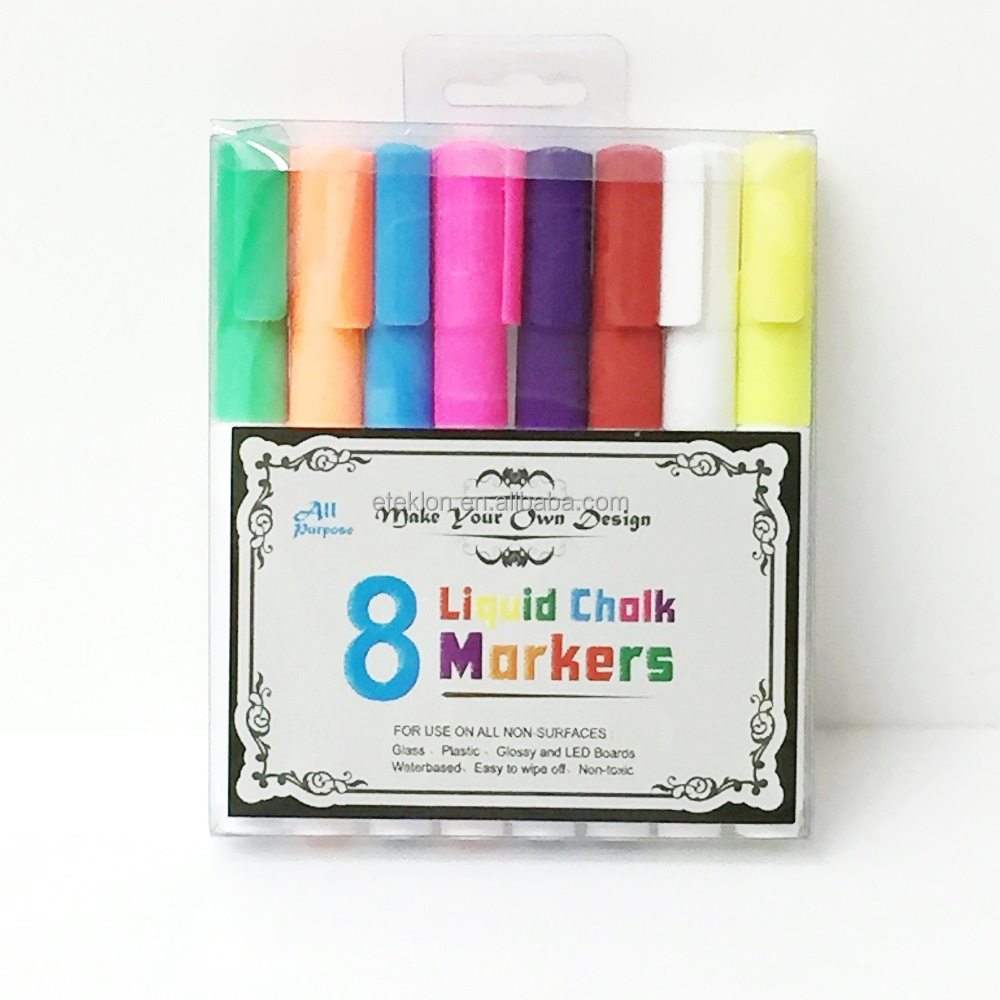 Non Toxic Promotional Colorful Liquid Chalk marker pen