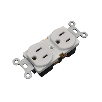 Superior quality 125V 15 amp duplex outlet nema 5-15r USA receptacle