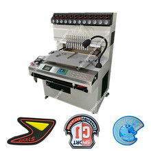 Easy operation 12 clolor silicone trademark making machine