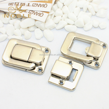 Square Wooden Case Acessories Case Small Latch Lock