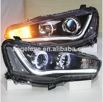 Mitsubishi Lancer Exceed LED Strip Head Light Angel Eyes 2008-2013 year YZV2