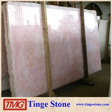 Pink Onyx Marble Slab With Factory Price