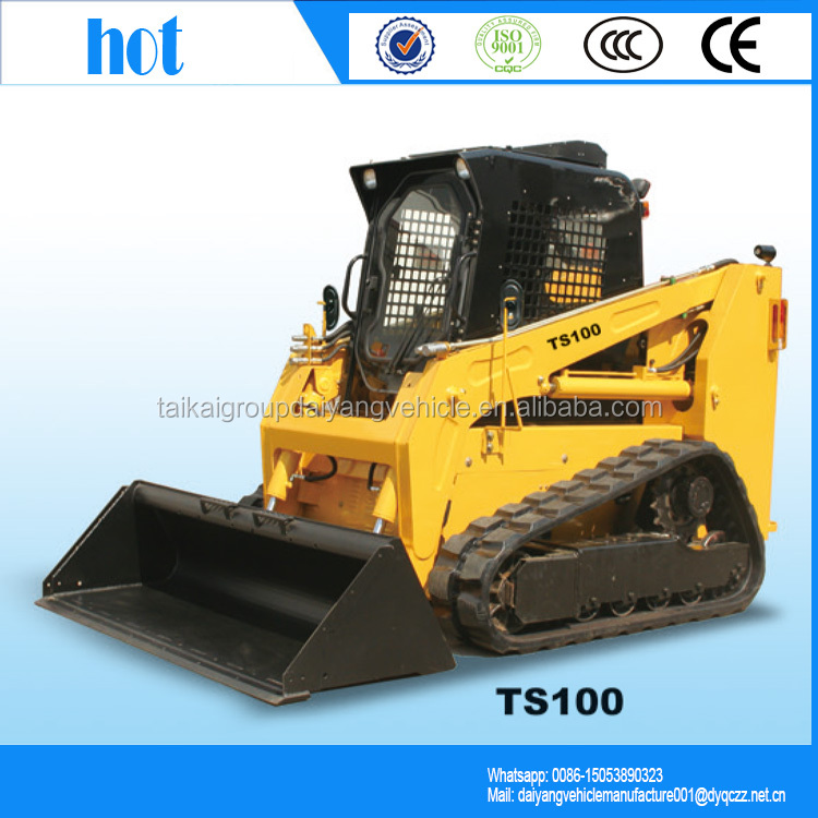 Good loading skid steer loader LUYUE TS100 skid loader