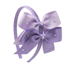 Baby Girls' Boutique Ribbon Elastic Big Bow Hairband