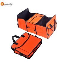 Large Three-Compartment Car Organizer For Back Seat Tool Food Car Organizer