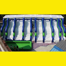 New design many slideways/lines giant inflatable water slide for adult