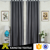 Kangtai Textile New Tech plain dyed polyester meterial window cloth for living room, hotel, curtain blackout