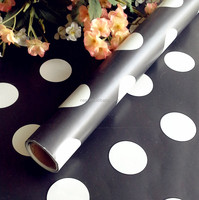 2016 fashion black and white dot wrapping paper