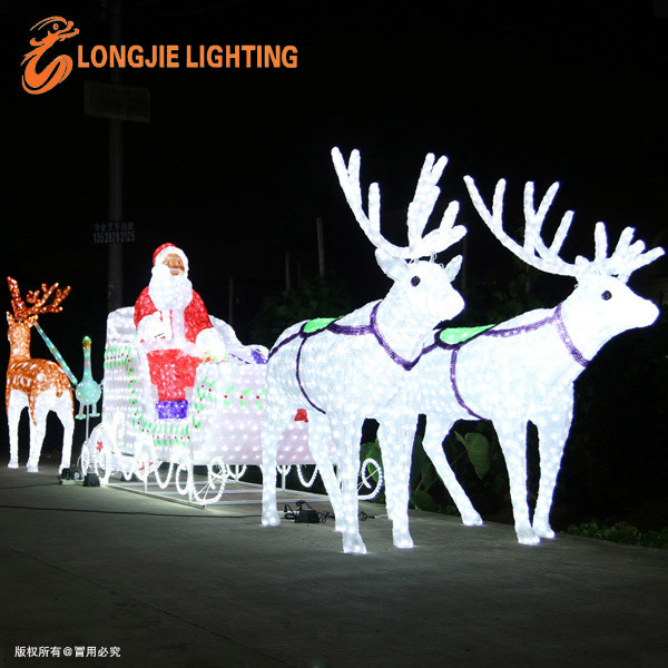 Santa claus led lumi re de no l ext rieur sculptures led - Lumiere de noel exterieur ...