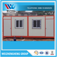 Alibaba China modular box type house designs modern prefab house