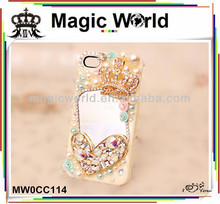 queen crown bling phone cover for iphone5