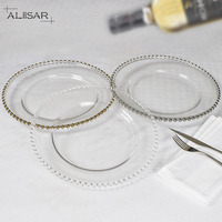 AliiSAR cheap gold charger plates wholesale clear charger plates of 13 inch