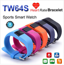 TW64S Fitness Heart Rate smart fitness band Wristband Tracker Bluetooth 4.0 Watch For IOS Android (TW64 Upgraded Version)