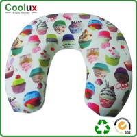 Neck pattern size pillow fill with polystyrene bead, neck pillow travel set