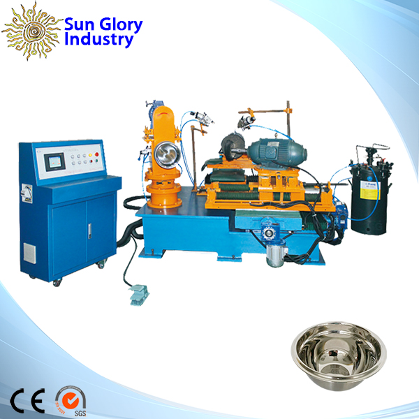 TRADE ASSURANCE Reliable and High quality metal polish machine inner wall and rim grinding, emery polish, sisal polish, buffing