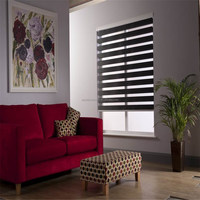 custom horizontal decorative zebra roller type window blinds