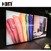 Indoor /outdoor advertisement led light box fabric textile lightbox