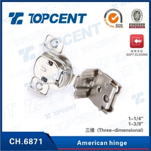 [CH.6871] 35MM cup One way three dimensional American cabinet hinge