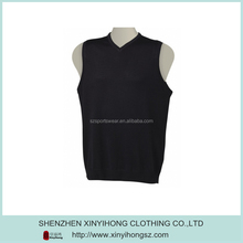Top Quality Classical Design Sleeveless Black Knitwear Brands