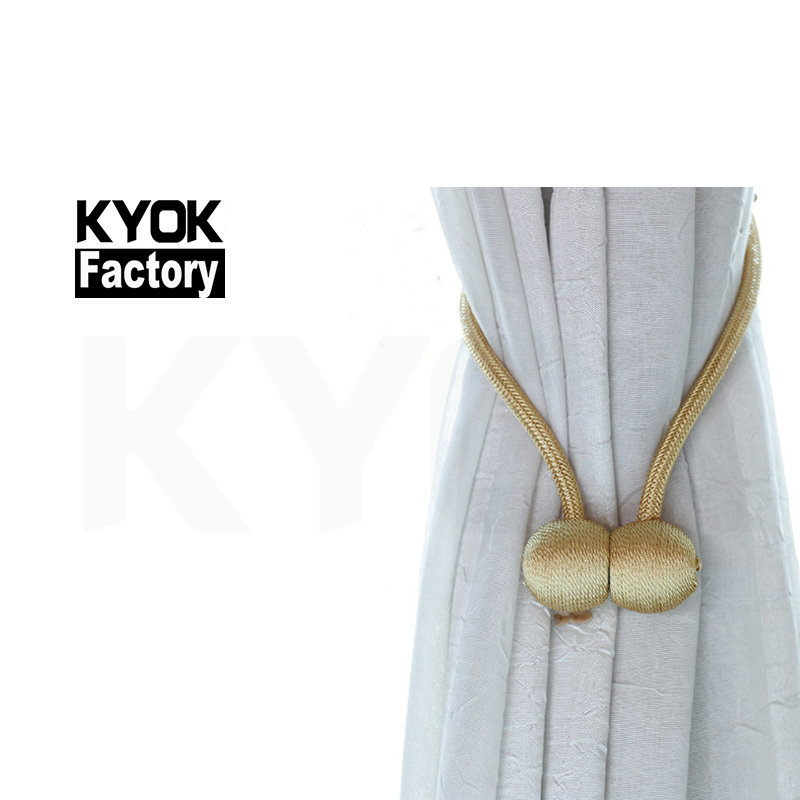 KYOK 2019 Modern new design curtain walls accessories tieback Curtain Wholesale curtain tie back hooks