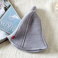 2017 Fashion Korean Hats Original Nipple Design Foldable Caps For Girl Shopping Summer Knitted Hats