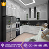 U Shape High Glossy White Paint Kitchen Cabinets DTC Hinge Soft Closing Door Kitchen Design