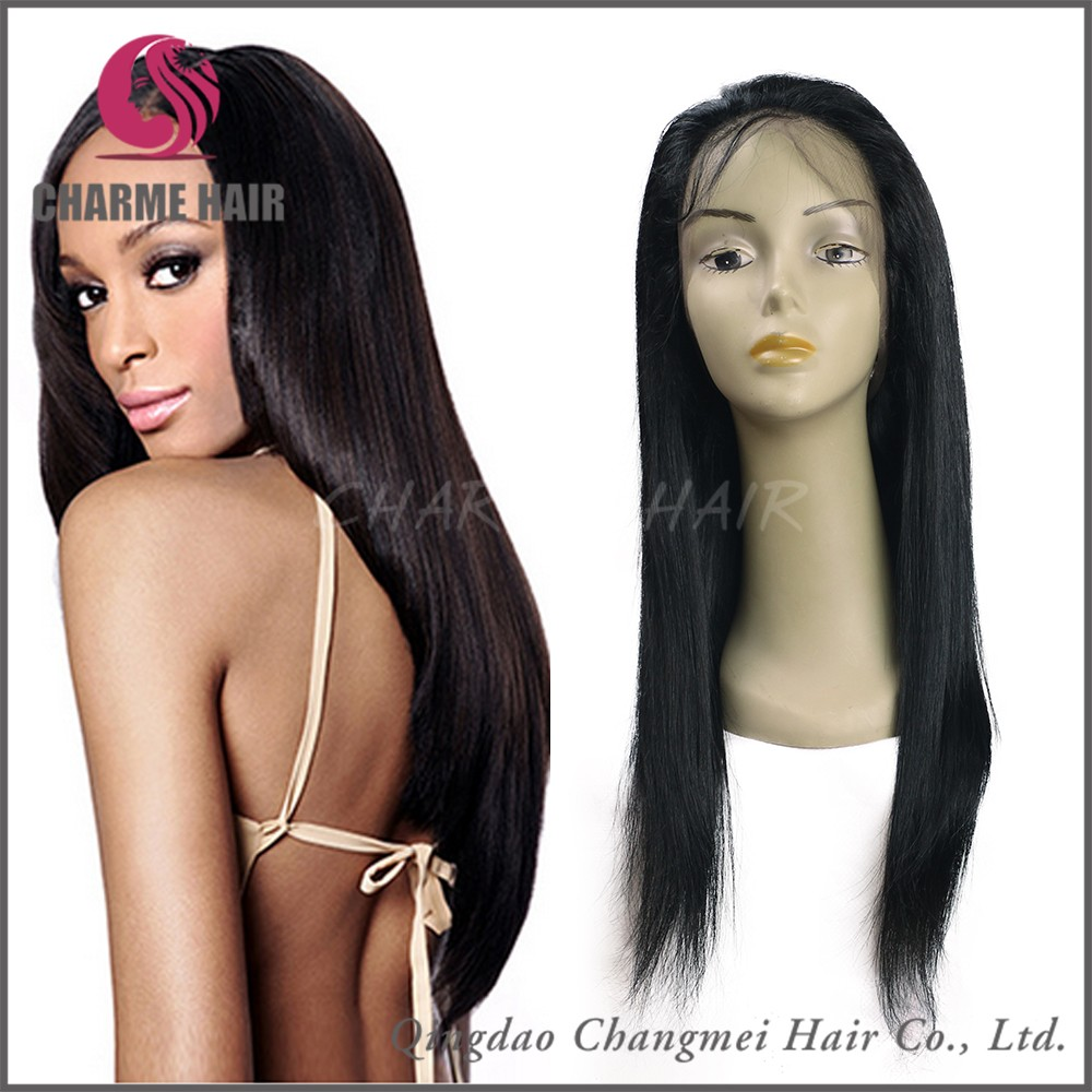 the sexy silky natural straight lace front wigs for black girls