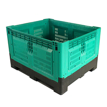 1200*1000 *810 Heavy Duty Rolling collapsible container Storage pallet Bulk crates plastic