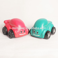 2016 manufacturer hot sell mini plastic baby / kid PU stress car toy
