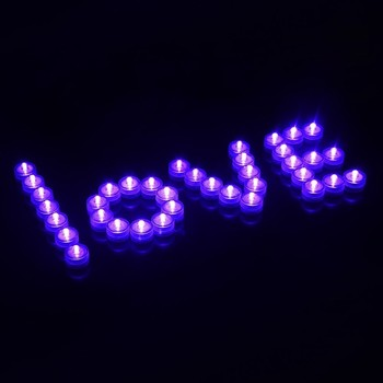 valentine's day waterproof LED candle