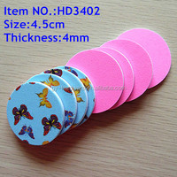 Round shape two way Nail File and buffer with different pattern
