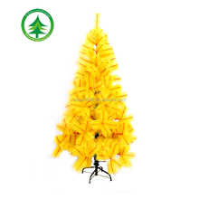 180cm yellow artificial pine christmas tree, hot sale christmas tree as ornament