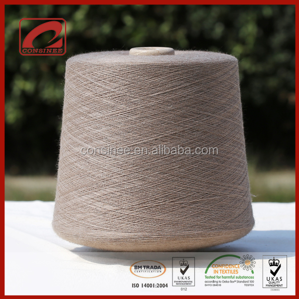 wool and baby camel blended yarn for carpet